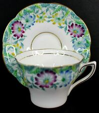 Vintage Rosina Fine Bone China Tea Cup and Saucer Floral England