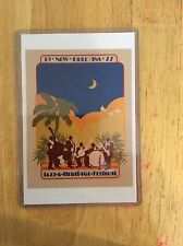 1977 New Orleans Jazz Fest Poster Postcard 3rd Kathleen Joffrion