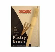Apollo 8493 Pastry Brush Pure Natural Bristle BBQ Bakery Home Use Wooden Handle