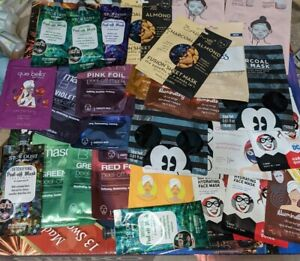 Lot Of 32 Mixed Face Sheet, lip Mask mix