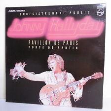 """2 x 33T JOHNNY HALLYDAY Disque LP 12"""" Concert PAVILLON DE PARIS -PHILIPS 6681011"""