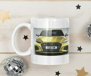 Personalised Number Plate Audi S3 Coffee Mug Unique Gift FAST DISPATCH