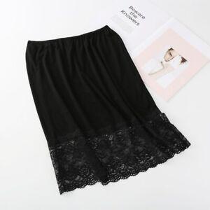 Lace Splice Modal Women Skirt Under Skirt Petticoat Mesh Half Slips Floral Women