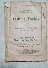 Antique Fishing Tackle Catalogue From Iver Johnson Sporting Goods Co. Ca.1920