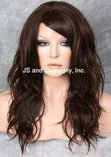 HEAT SAFE Fiber Loose WAVY Long Brown Auburn Mix Wig WBSY 6-30