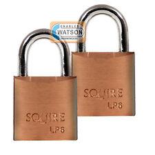Squire LP6T 20mm Cadenas Laiton Baggage Casier Valise Boite à outils Serrure
