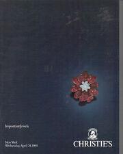 CHRISTIE'S JEWELS Heyman Schlumberger Tiffany Verdura Webb Winston Catalog 1991