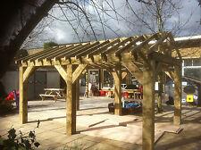 Wooden Garden Shelter Frame, Gazebo, Hot Tub, Car Port Canopy Kit 4.6m x 3m