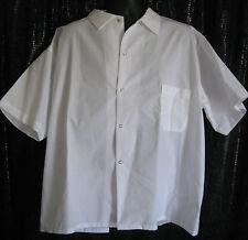 Kitchen Basix By Pinnacle Snap Up Front Sz 3X Crisp White 100% Spun Polyester