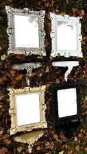 Miroir mural avec console Noir Baroque Tablette de 45x37 ancien