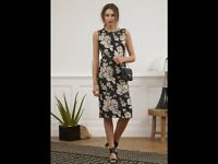 BNWTT 100% Auth By Darel Gerard Stunning Elegant Dress. 36 RRP £170