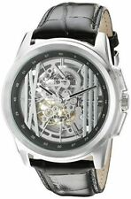 Kenneth Cole New York Men's KC8100 Skeleton Black Leather Strap Automatic Watch