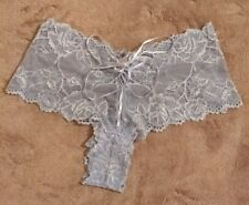 New BHS Size UK 12, Euro 40 Womens Knickers Cute Blue floral lace & ribbons