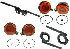 Blinker rund mit HALTER SCHWARZ S50 S51 S70 mit E-Prüfzeichen Set für Simson