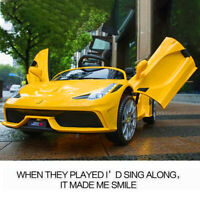 12V  Kids Ride on Car Toy Electric Battery W/MP3 Play 3 Speed Yellow .