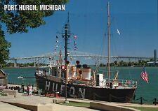 Lightship Huron, Port Huron Michigan, Museum, Lighthouse & Ship, MI --- Postcard