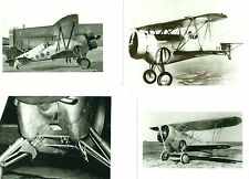 LOT OF 5: WWII - #13 U.S. NAVY 5-B-2 & VARIOUS BIPLANE AIRPLANE B&W PHOTOGRAPHS