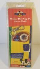 Vintage Mickey Mouse Mini Clip-on Alarm Clock DISNEY