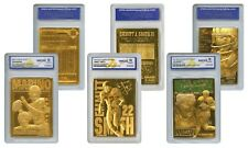 Set of 3 NFL 23K Gold Cards - DAN MARINO / EMMITT SMITH / JOE NAMATH Gem-Mint 10