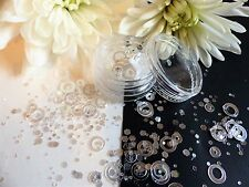 "Nail Art ""Halo"" Circles Hexagon Iridescent Silver Holograpic Pot Spangle Glitter"