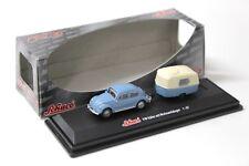 1:87 Schuco VW Käfer mit Wohnanhänger blue NEW bei PREMIUM-MODELCARS