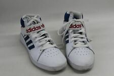 ADIDAS Mens Vrx Cup Mid Trainers White Blue Stripes Lace Up Hi Tops UK7 EU41