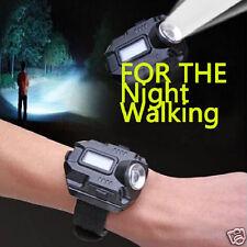 Outdoor Tactical USB Charging LED Sport Wrist Watch USB Flashlight w/ Compass