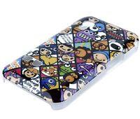 Hülle f Samsung Galaxy Ace S5830 Schutzhülle Tasche Case Cover Comic Emoticons