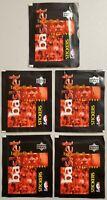 1997-98 Upper Deck Basketball Stickers Lot of 5(Five) New Sealed Packs Jordan.-*