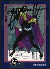 1993 Tom Grummett Signed DC Cosmic Teams Trading Art Card ~ Superman / Brainiac