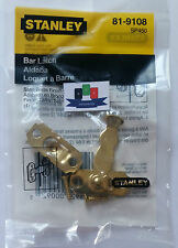 Stanley (81-9108) Satin Brass Bar Latch - New And Sealed