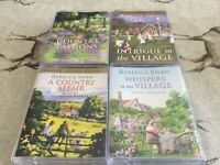 ORION Audio Books x 4 by Rebecca Shaw -Country Passions,Intrigue in the Village,