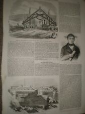 Chile Valparaiso and Santiago Railway 1856 prints and article ref AT