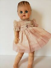 Eegee Vintage Rubber Doll Molded Hair Dress Blue Eyes Close