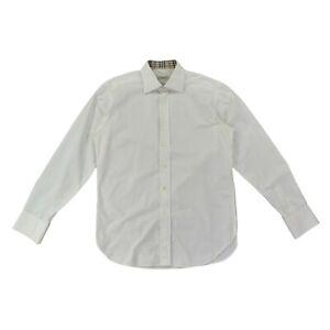 BURBERRY London Herren Hemd Gr.40 SLIM FIT Nova Check Langarm weiß Shirt Men TOP