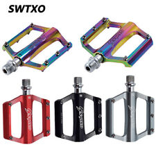 SWTXO Mountain Road Bike Pedals MTB Aluminum Flat Platform Sealed Bearing 9/16''