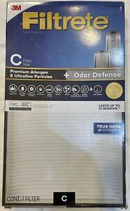 3M Filtrete 1150098 True HEPA Odor Defense Air Purifier Filter Size C
