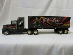"Vintage Nylint Pressed Steel Brown Golden Eagle Semi Truck Cab & Trailer 25"""