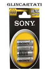 48 SONY AAA BATTERIE PILE STILO SONY AA 1,5V Ultra Durata Zinco Carbone