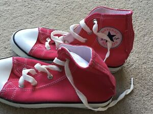 Brand New! Girls Pink Converse High Tops Size 3