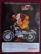 1967 Print Ad Honda Motorcycle ~ 20 Cool & Calculating Models Shapes the World