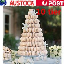 10 Tier Round Macaron Tower Stand Macaron Cake Display Rack for Wedding Birthday