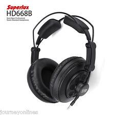 Superlux HD668B semi-abierto Estudio Profesional Estándar dinámico Auriculares