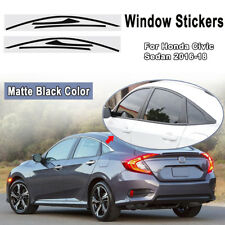 Side Window Frame Trim Sticker Decal Overlay For Honda Civic 4-Door 2016-2018