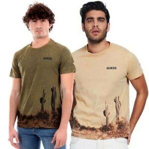GUESS Camiseta Hombre Suéter Algodón Logo Fantasía Estampado Frontal M1GI59K8FQ1