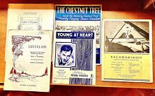 5 Vintage Sheet Music For Piano
