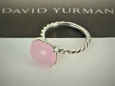 David Yurman Color Classics Ring with Pink Chalcedony, Size 8