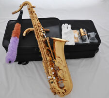 Professional Gold brass C Melody sax saxophone high F#  with 2 Necks +case