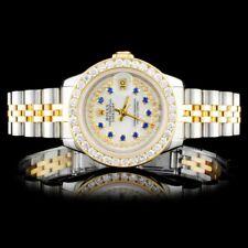 ROLEX CERTIFIED LADIES 18K/SS DATEJUST JUBILEE 1.50CT DIAMOND WRISTWATCH