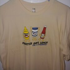 Practice Safe Lunch use a condiment shirt XL